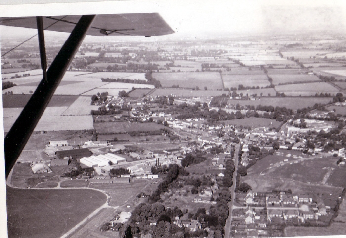 Haddenham Airfield and Village 1952